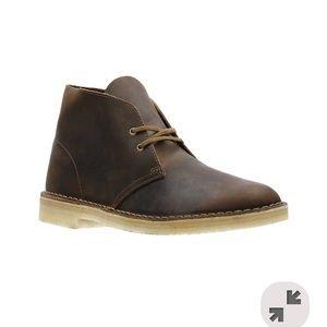 Clark's desert boot beeswax leather 11